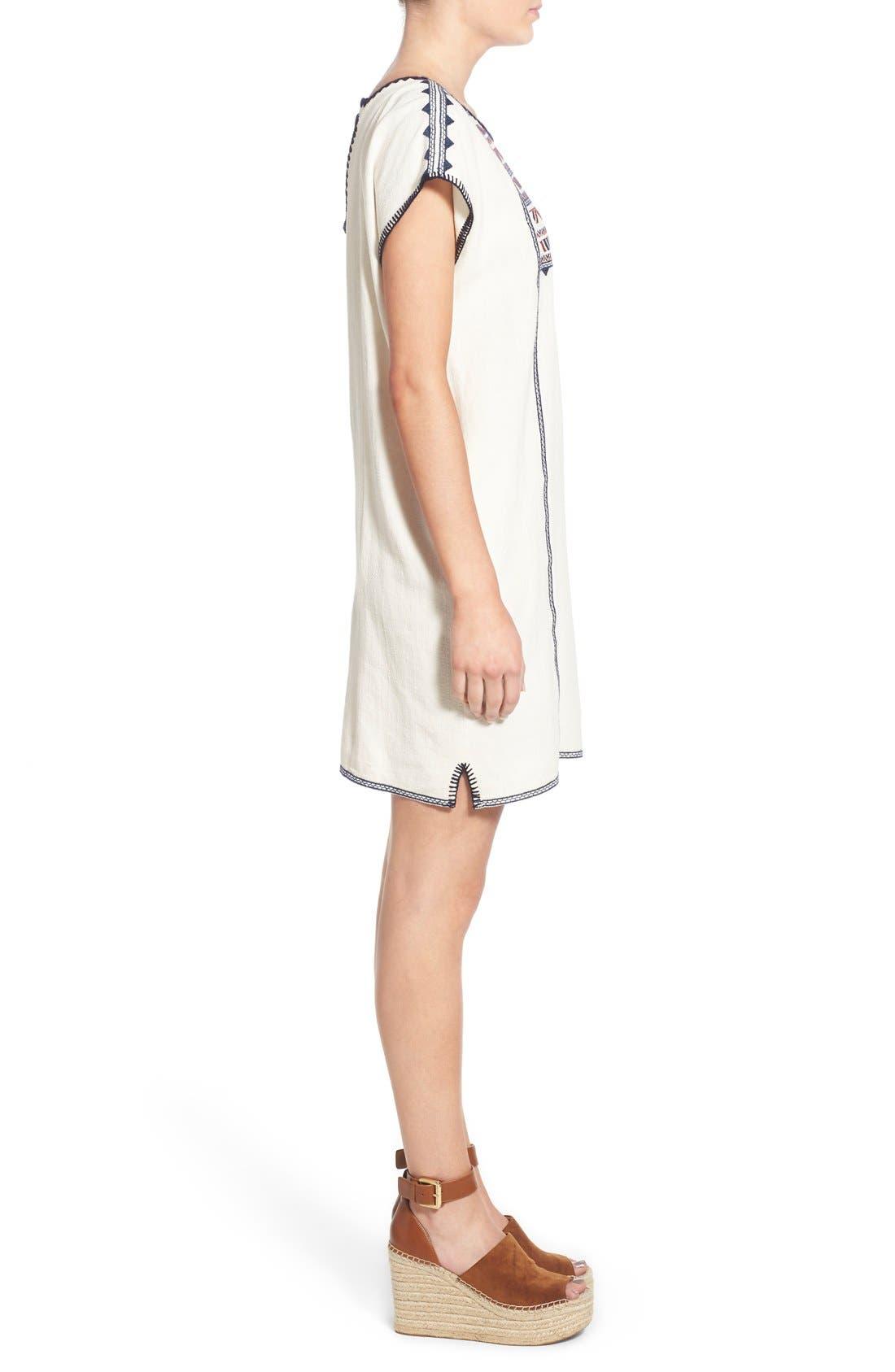 Alternate Image 3  - ASTR Embroidered Shift Dress