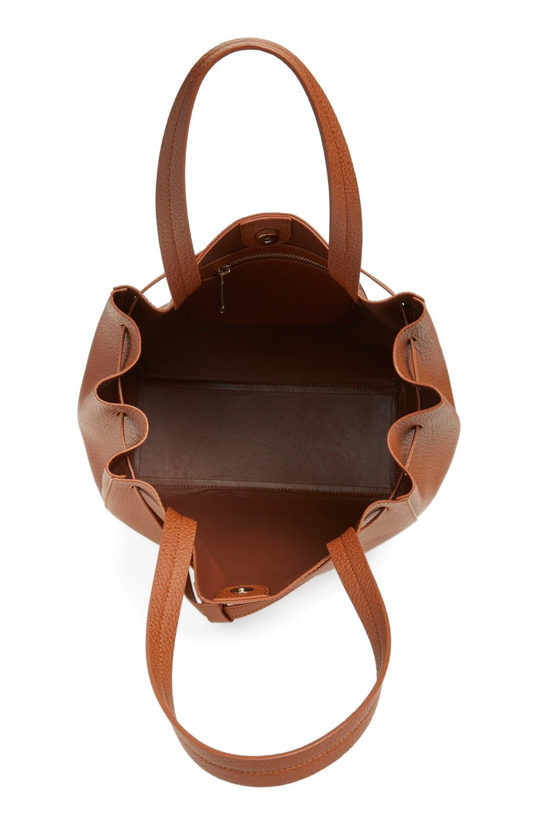 Alternate Image 4  - BP. Faux Leather Drawstring Tote