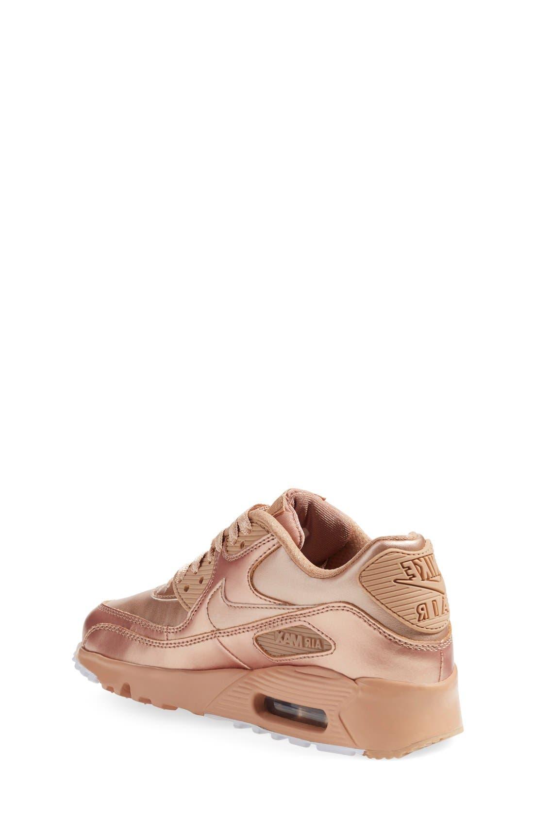 Alternate Image 2  - Nike Air Max 90 SE Sneaker (Big Kids)