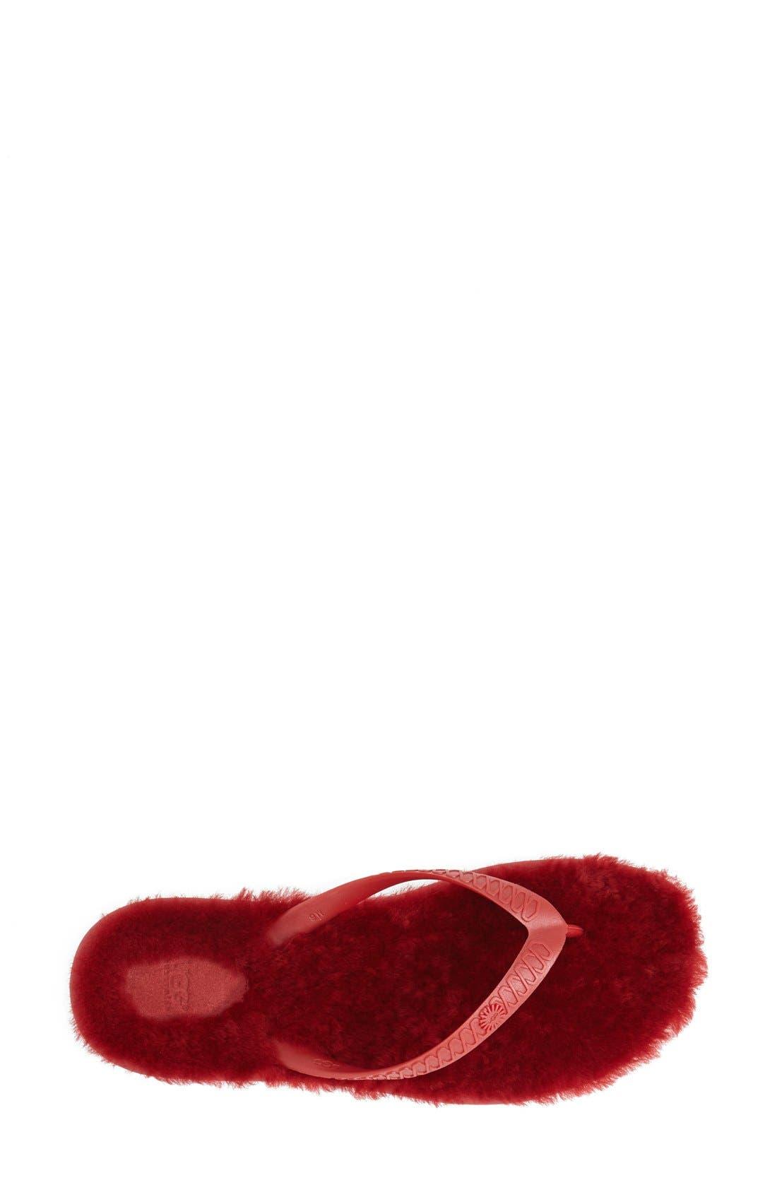 Alternate Image 3  - UGG® 'Fluffie' Flip Flop (Women)