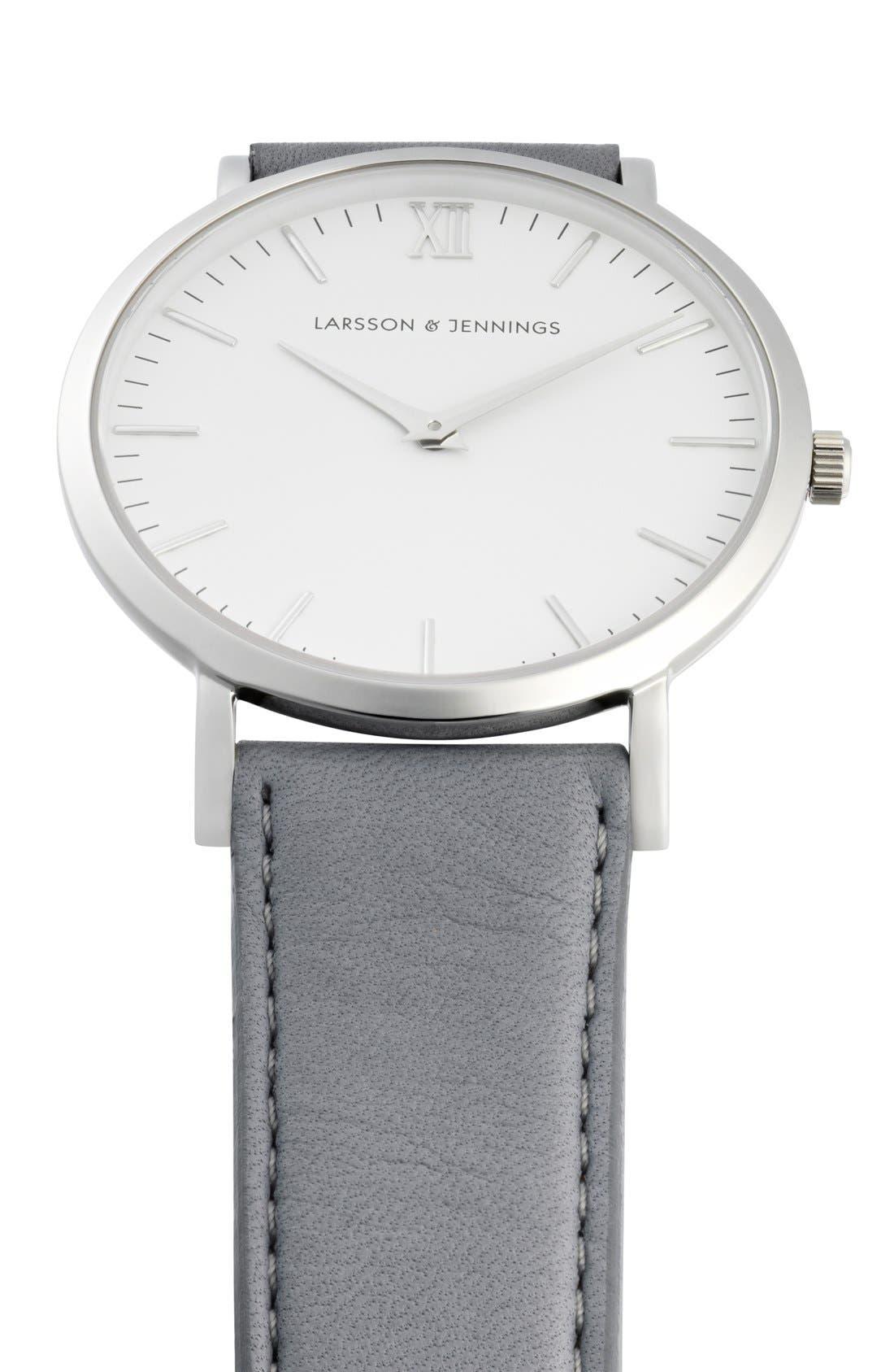 Alternate Image 4  - Larsson & Jennings 'Lugano' Leather Strap Watch, 40mm