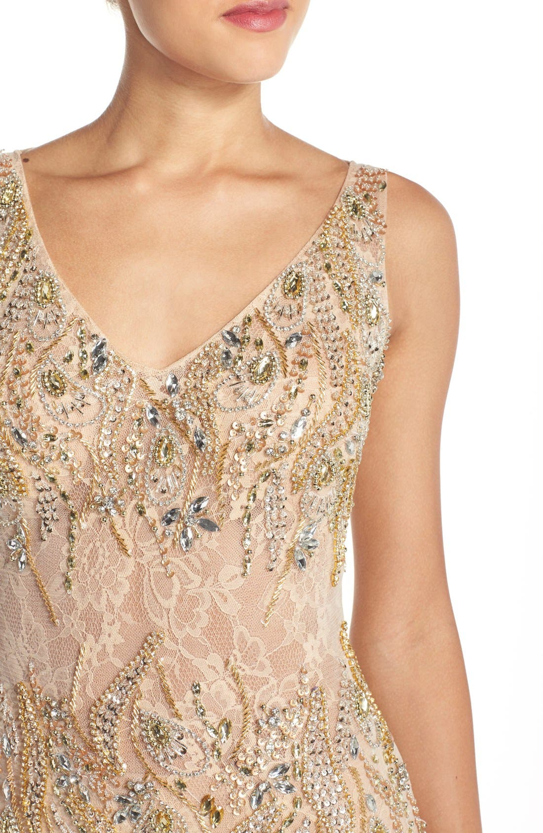 Alternate Image 4  - Terani Couture Embellished Lace Mermaid Gown