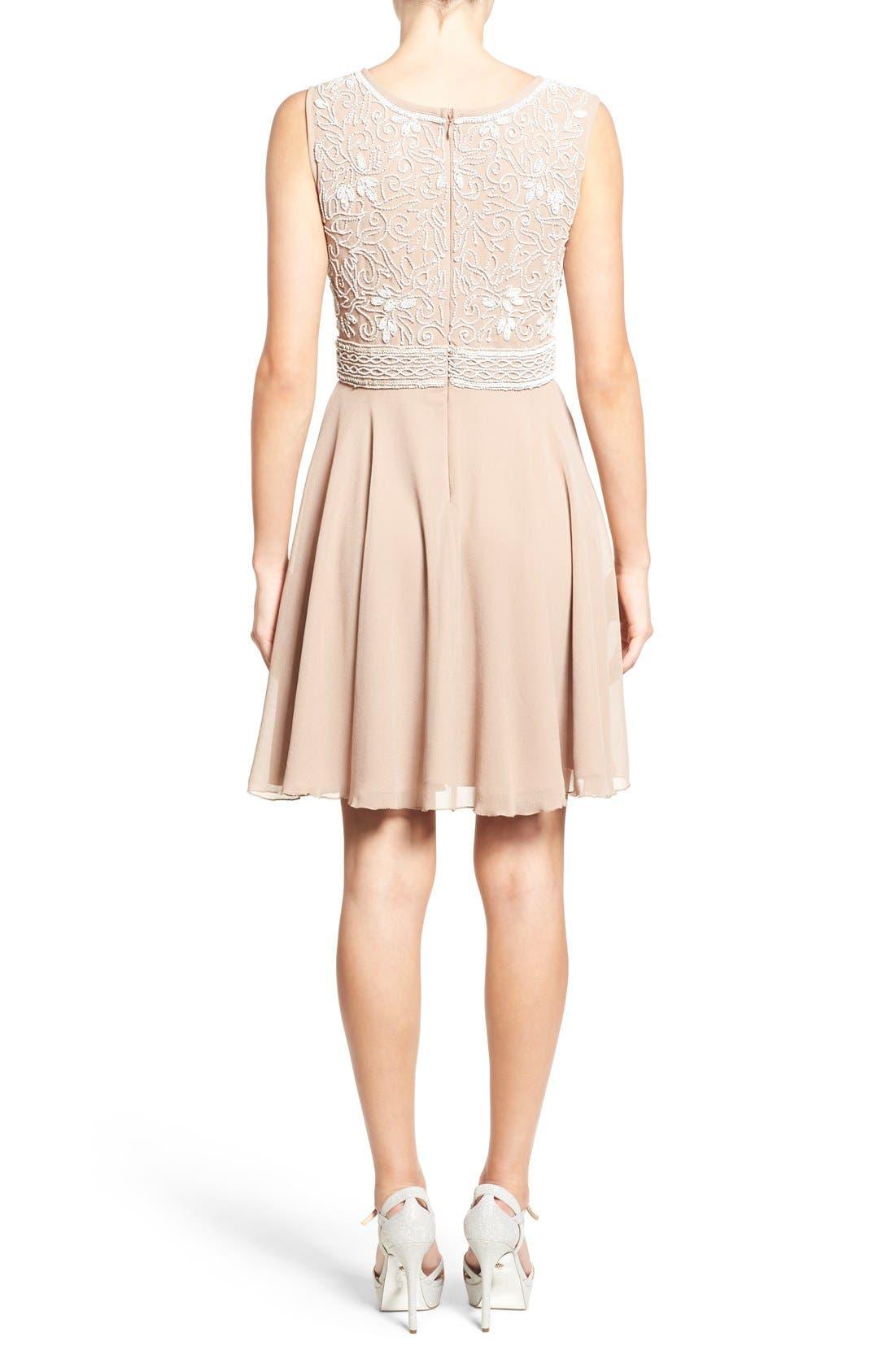 Alternate Image 2  - Lace & Beads 'Lola' Embellished Skater Dress