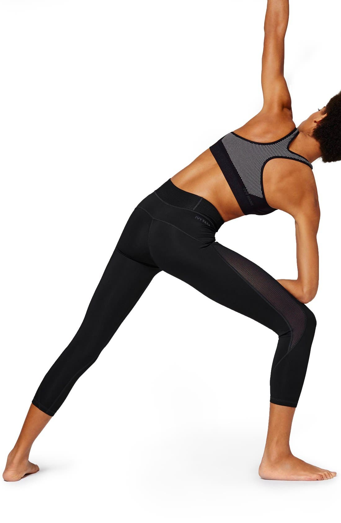 Alternate Image 4  - IVY PARK® Mesh Inset Three-Quarter Leggings