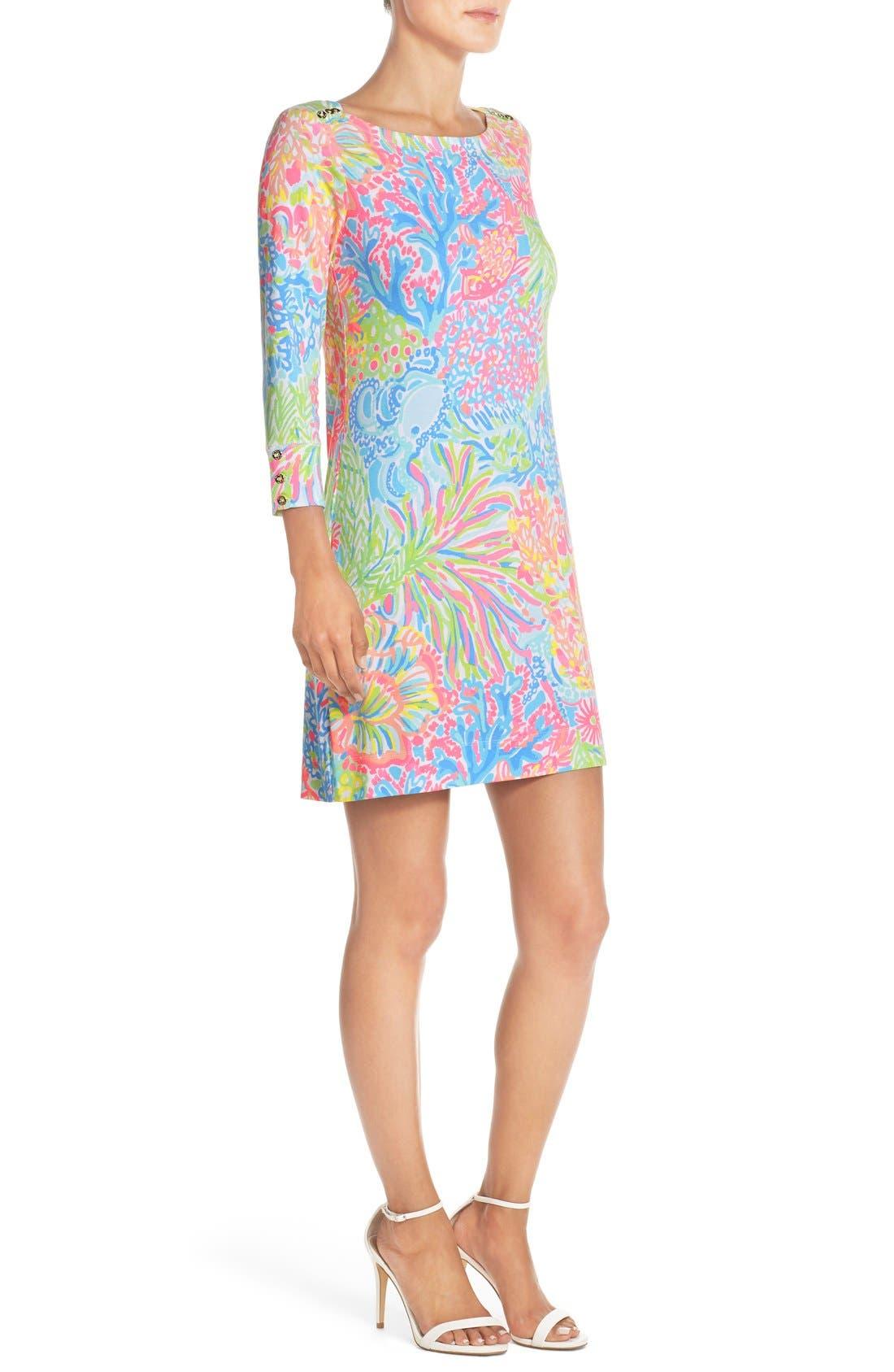 Alternate Image 4  - Lilly Pulitzer® 'Sophie' Print Jersey Shift Dress (UPF 50)