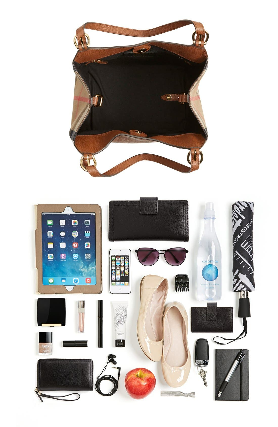 Alternate Image 7  - Burberry 'Canterbury' House Check & Leather Tote