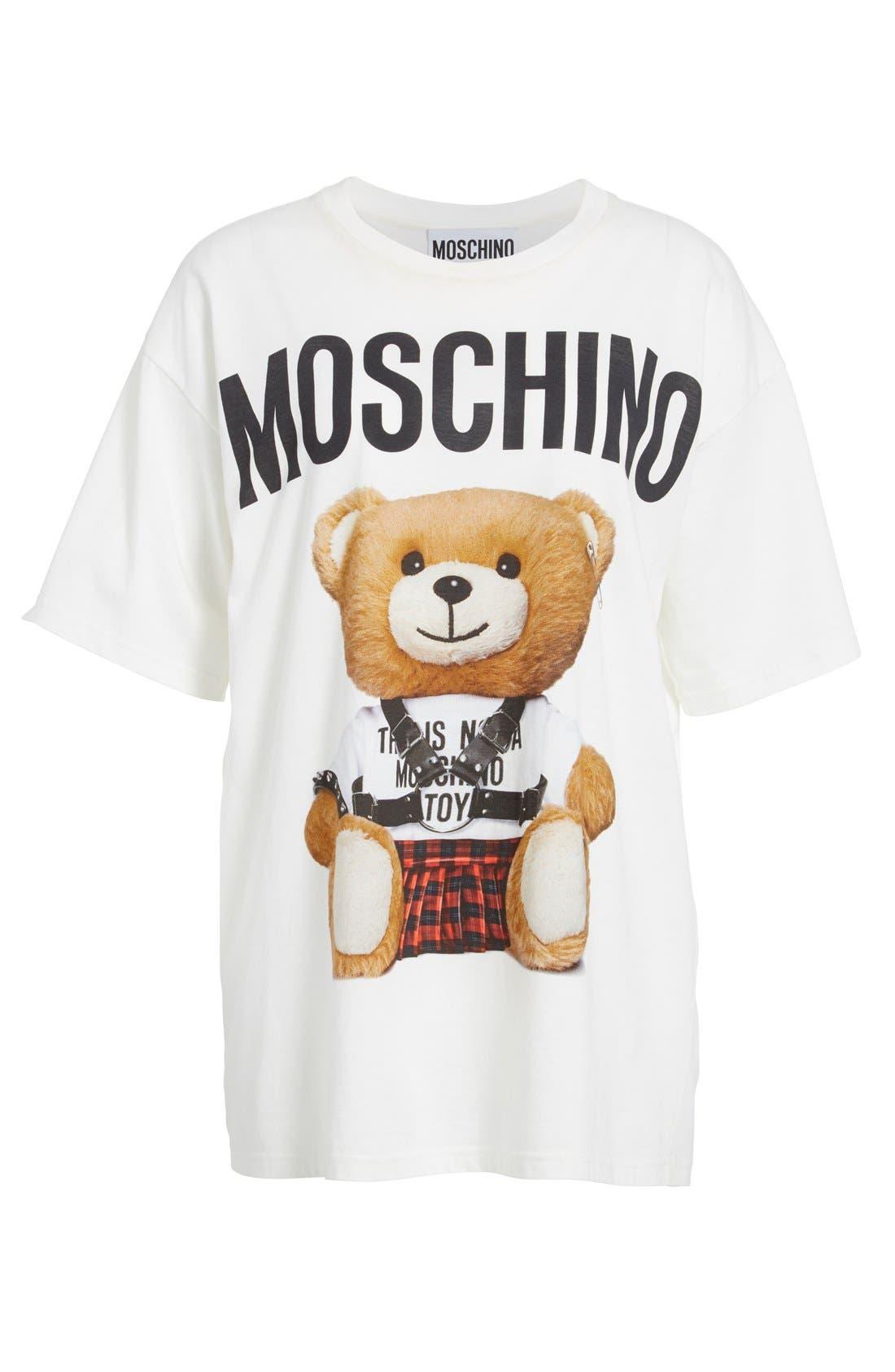 Alternate Image 4  - Moschino Teddy Print Cotton Tee