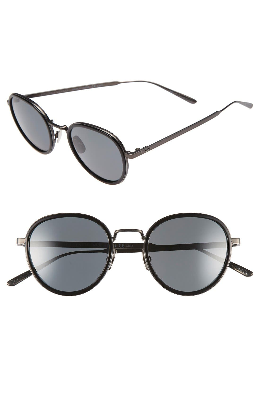 Bottega Veneta 49mm Round Sunglasses