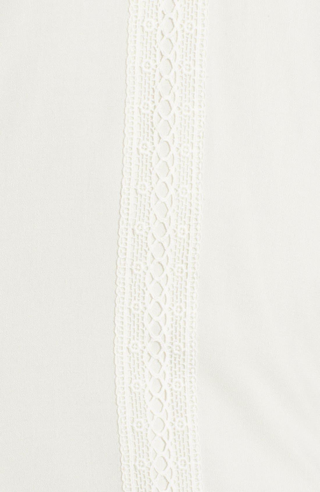 Alternate Image 5  - Trixxi Crochet Trim High/Low Shift Dress
