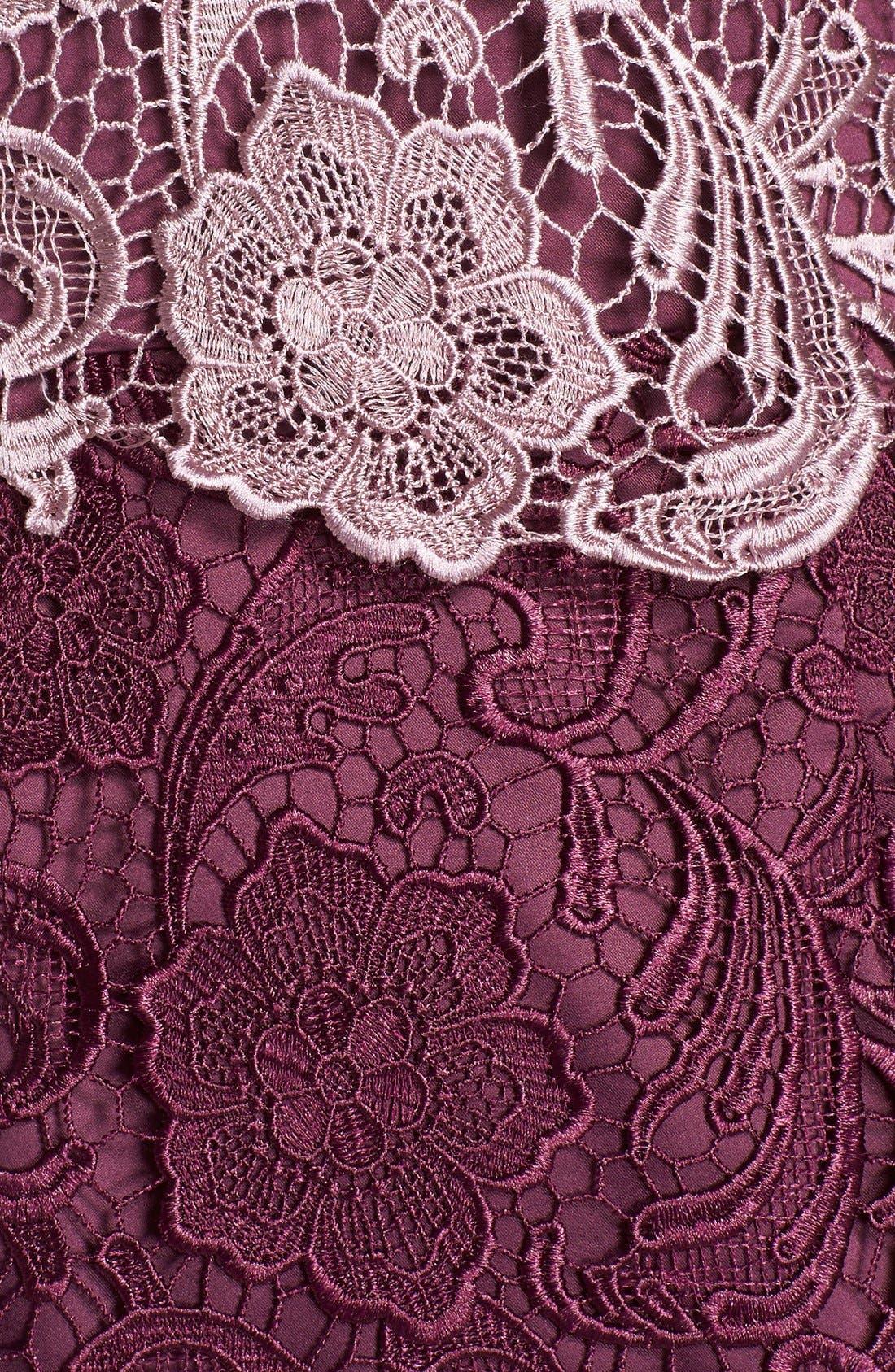 Alternate Image 7  - Adrianna Papell Colorblock Floral Lace Sheath Dress (Regular & Petite)