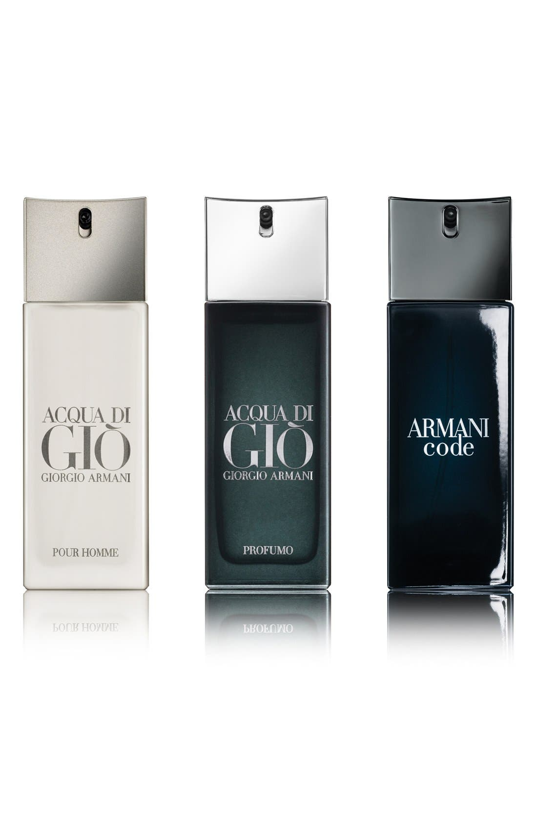 Giorgio Armani Men's Travel Spray Trio ($115 Value)