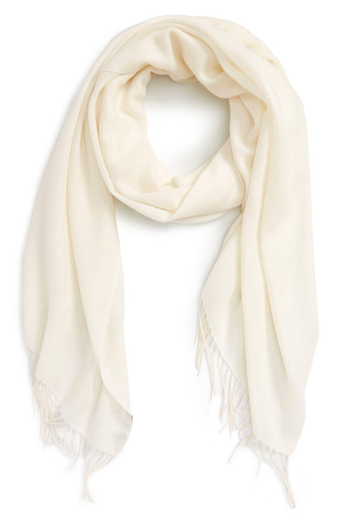 Nordstrom Tissue Weight Wool &Cashmere Scarf