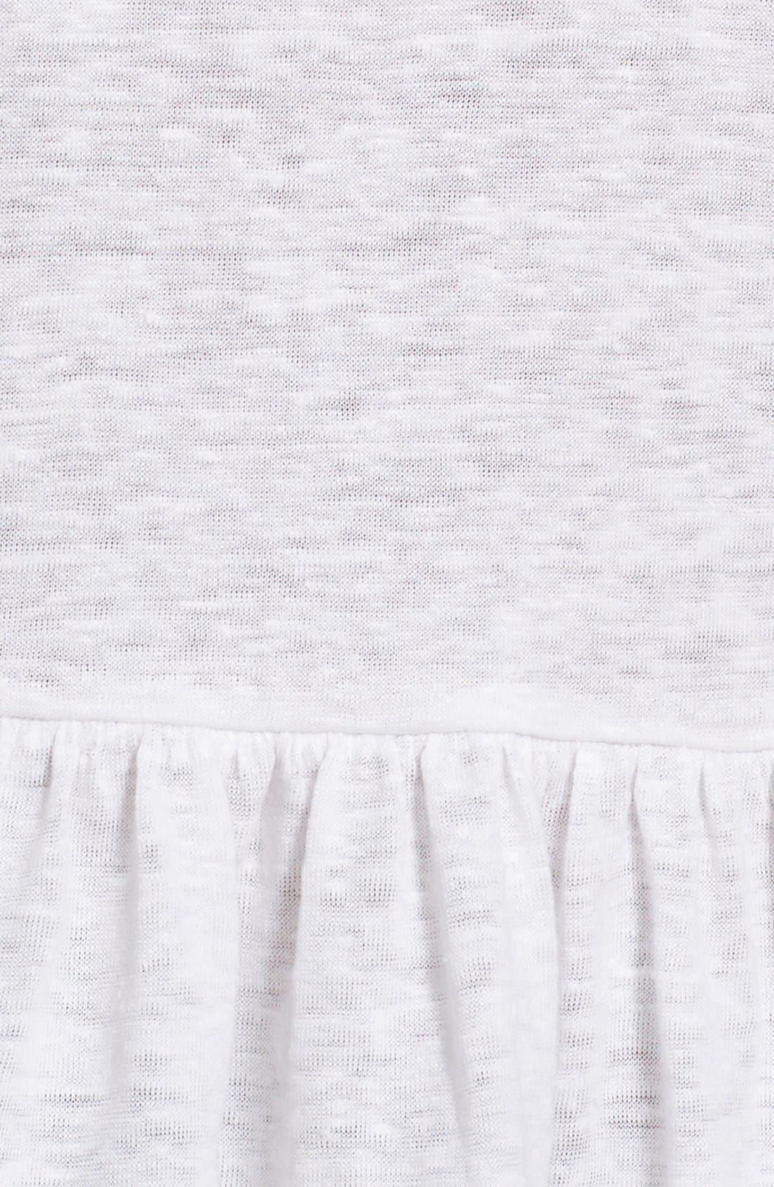 Alternate Image 5  - Rebecca Taylor Ruffle Linen Jersey Tee