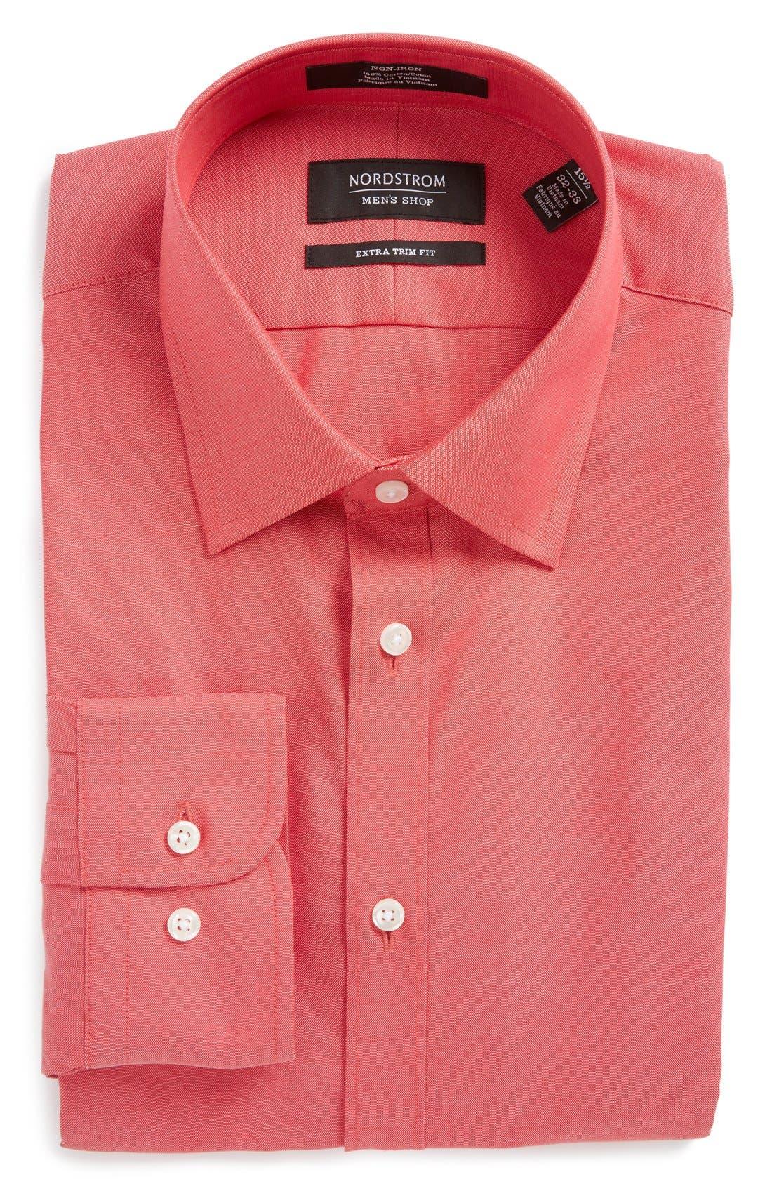 Alternate Image 1 Selected - Nordstrom Men's Shop Extra Trim Fit Non-Iron Solid Dress Shirt (Regular, Big & Tall)