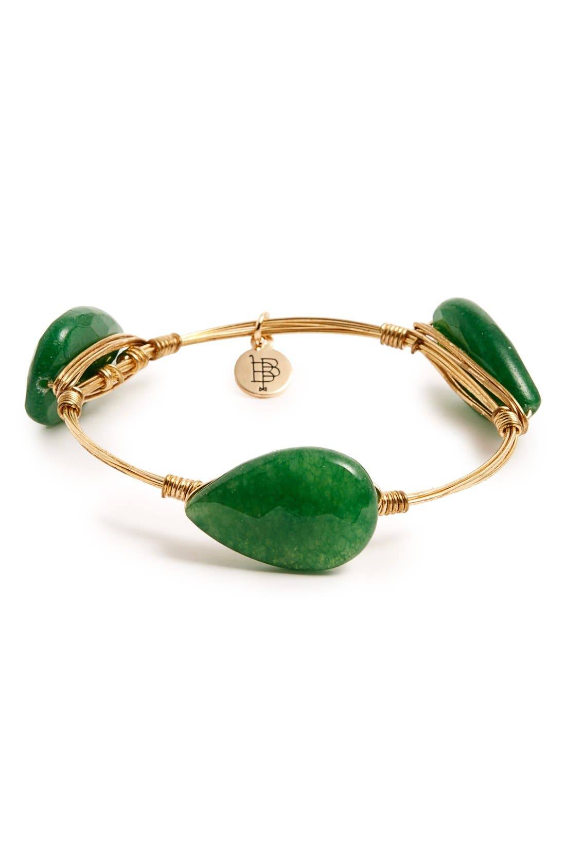 Alternate Image 1 Selected - Bourbon and Boweties Stone Bangle