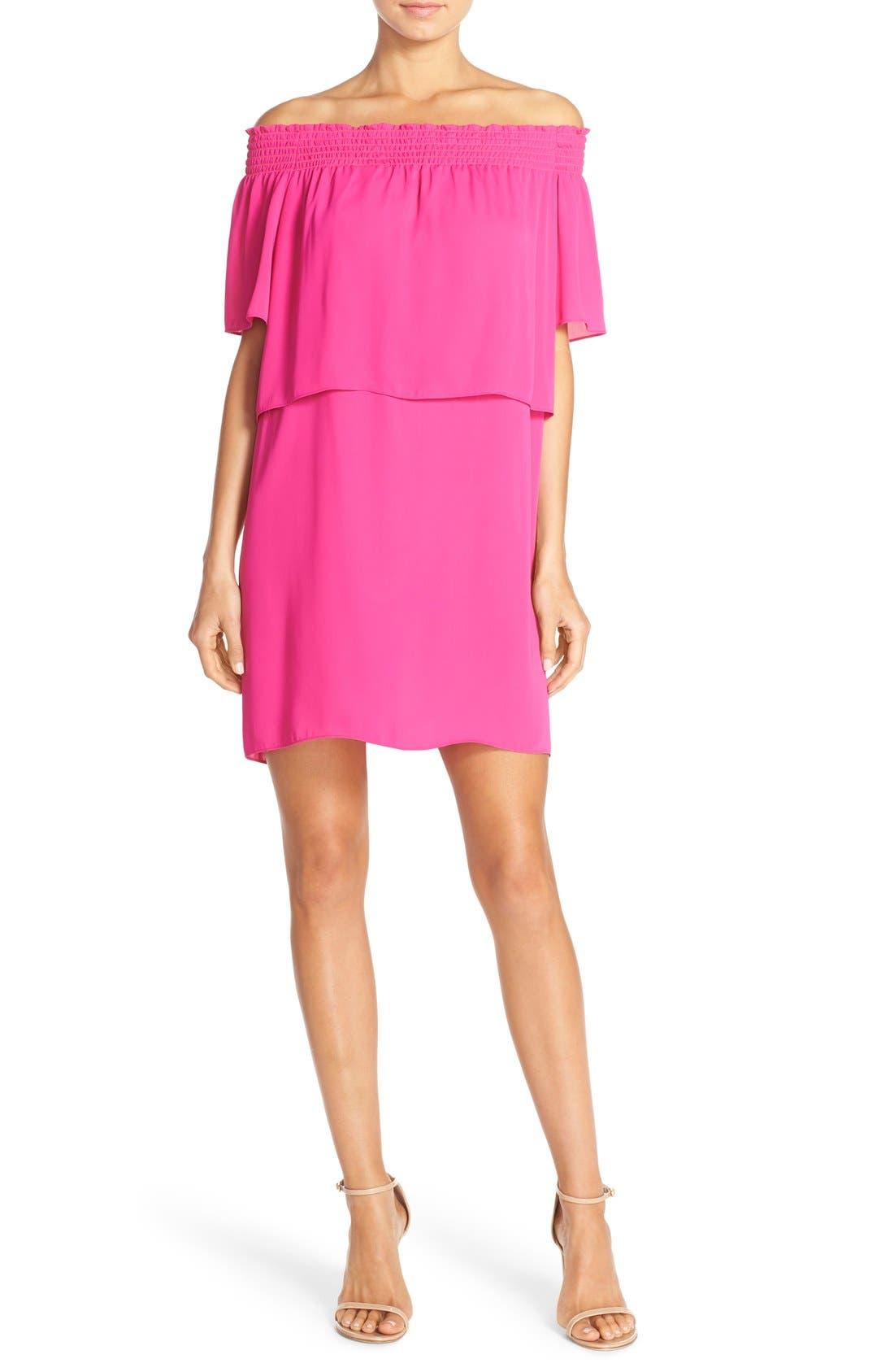 Alternate Image 1 Selected - Amanda Uprichard 'Cleo' Popover Off the Shoulder Dress