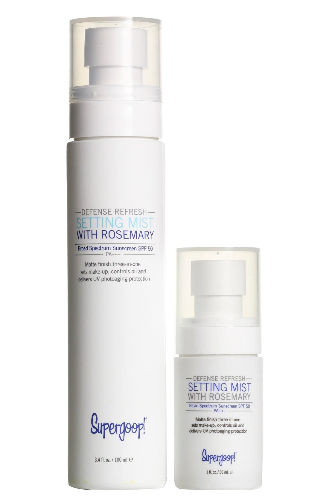 Supergoop!® Defense Refresh Setting Mist SPF 50 Home & Away Duo (Limited Edition) (Nordstrom Exclusive) ($40 Value)