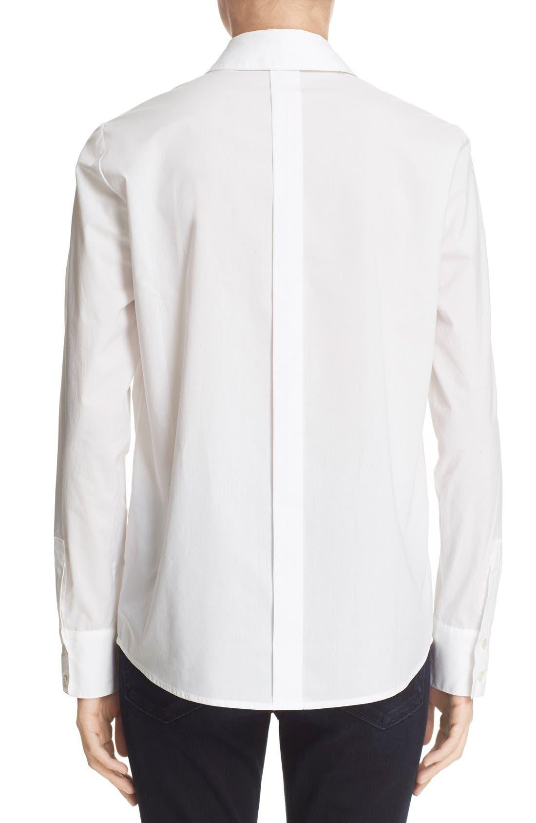 Alternate Image 3  - FRAME 'Le Bowtie' Removable Tie Cotton Poplin Blouse