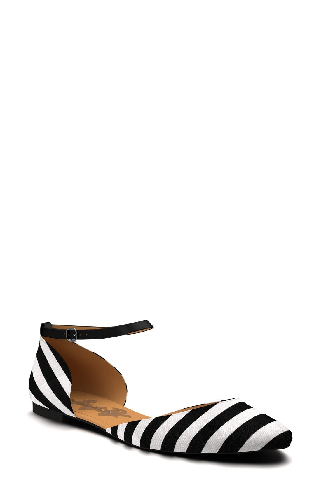 Alternate Image 1 Selected - Shoes of Prey Ankle Strap d'Orsay Flat (Women)