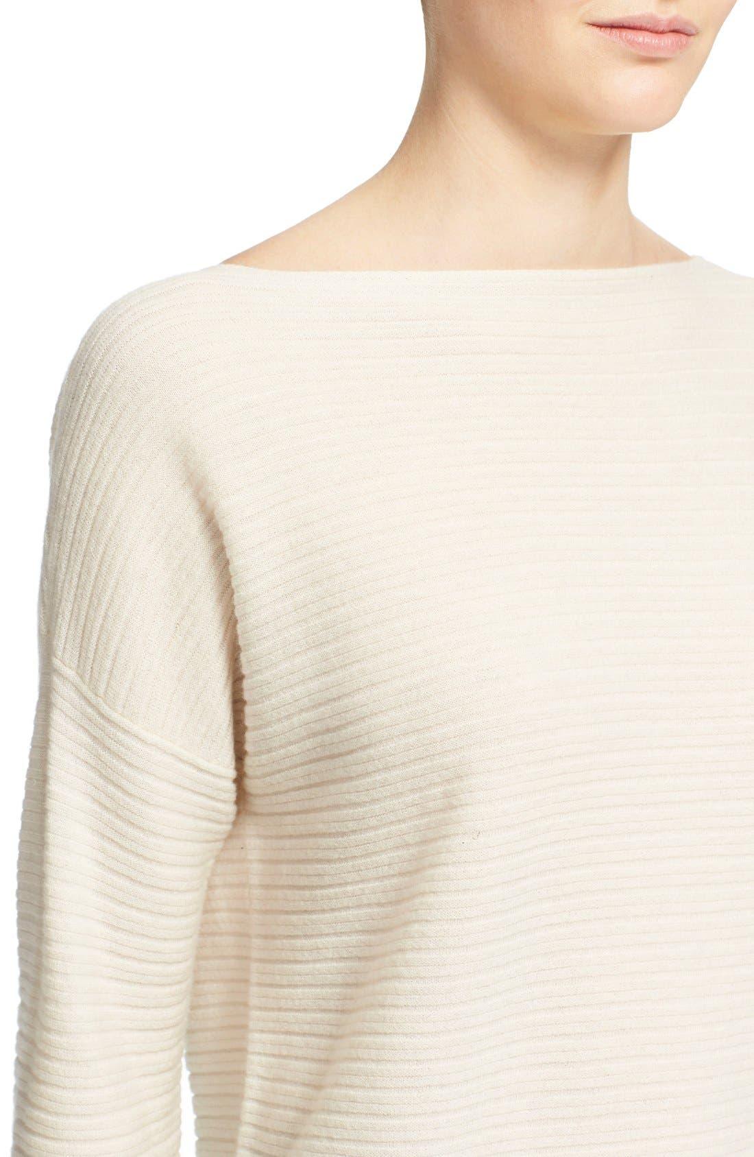Alternate Image 4  - Vince Boatneck Horizontal Rib Cashmere Sweater
