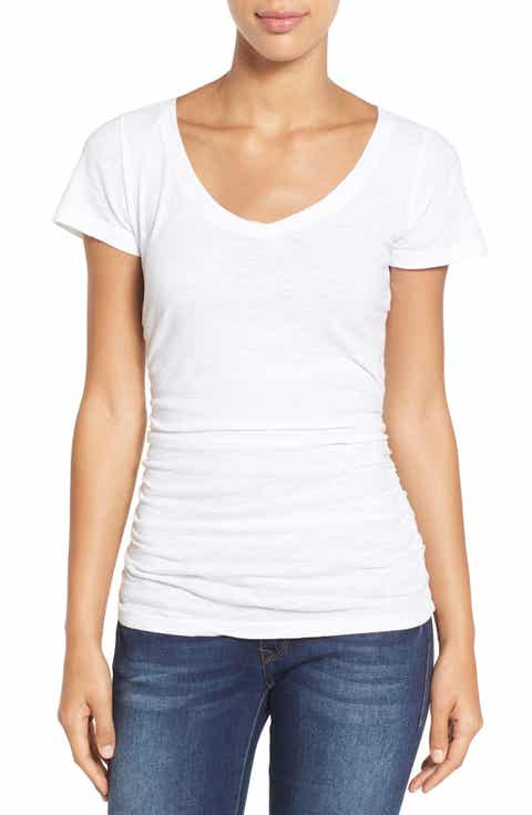 women 39 s white t shirts crew v neck more tees nordstrom