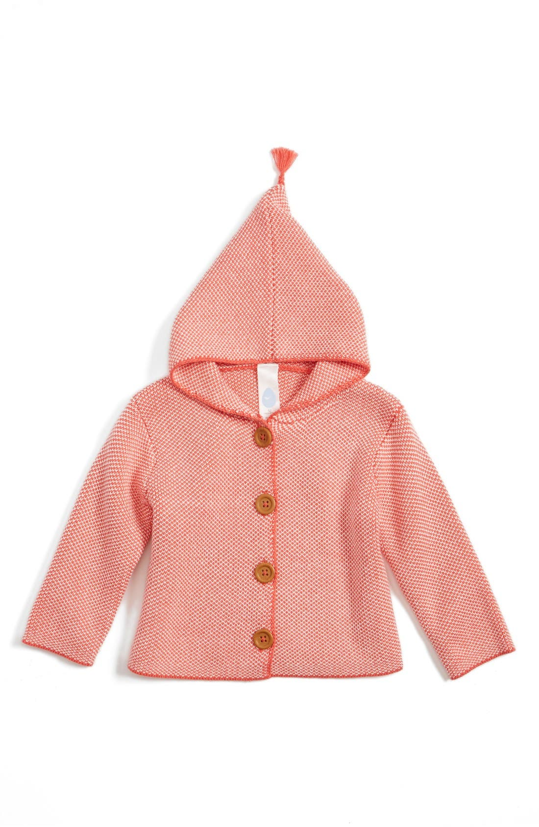 Main Image - Stem Baby Organic Cotton Hooded Cardigan (Baby)