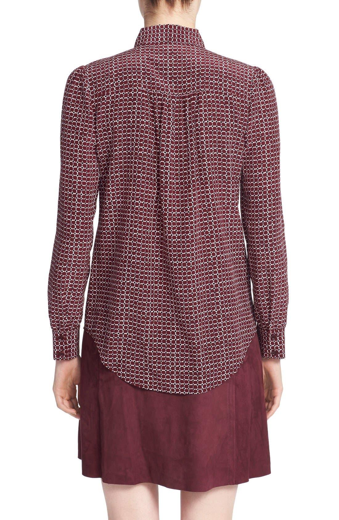 Alternate Image 2  - kate spade new york 'parker dot' print silk bow blouse