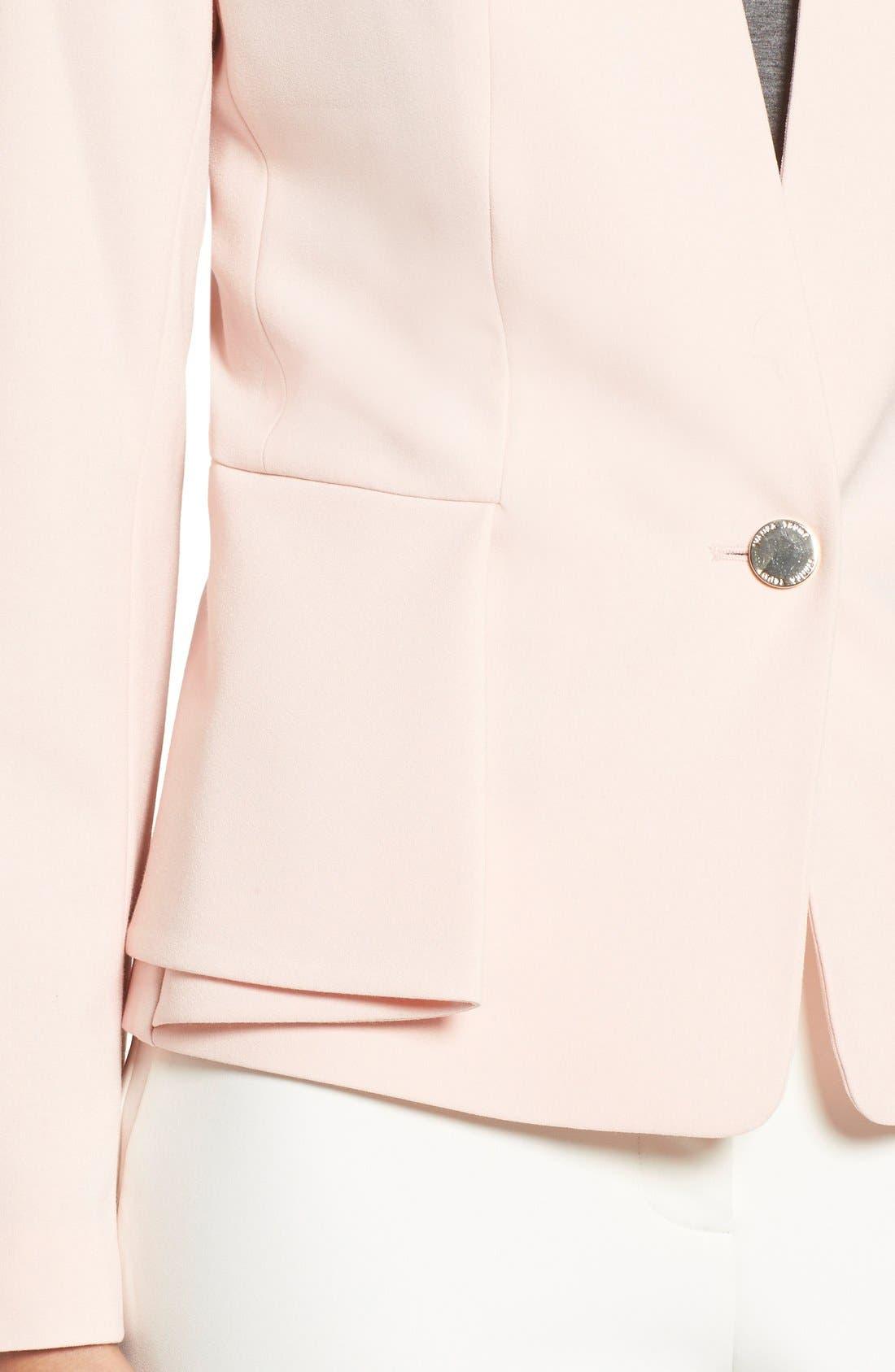 Alternate Image 4  - Ivanka Trump Peplum Panel One-Button Jacket