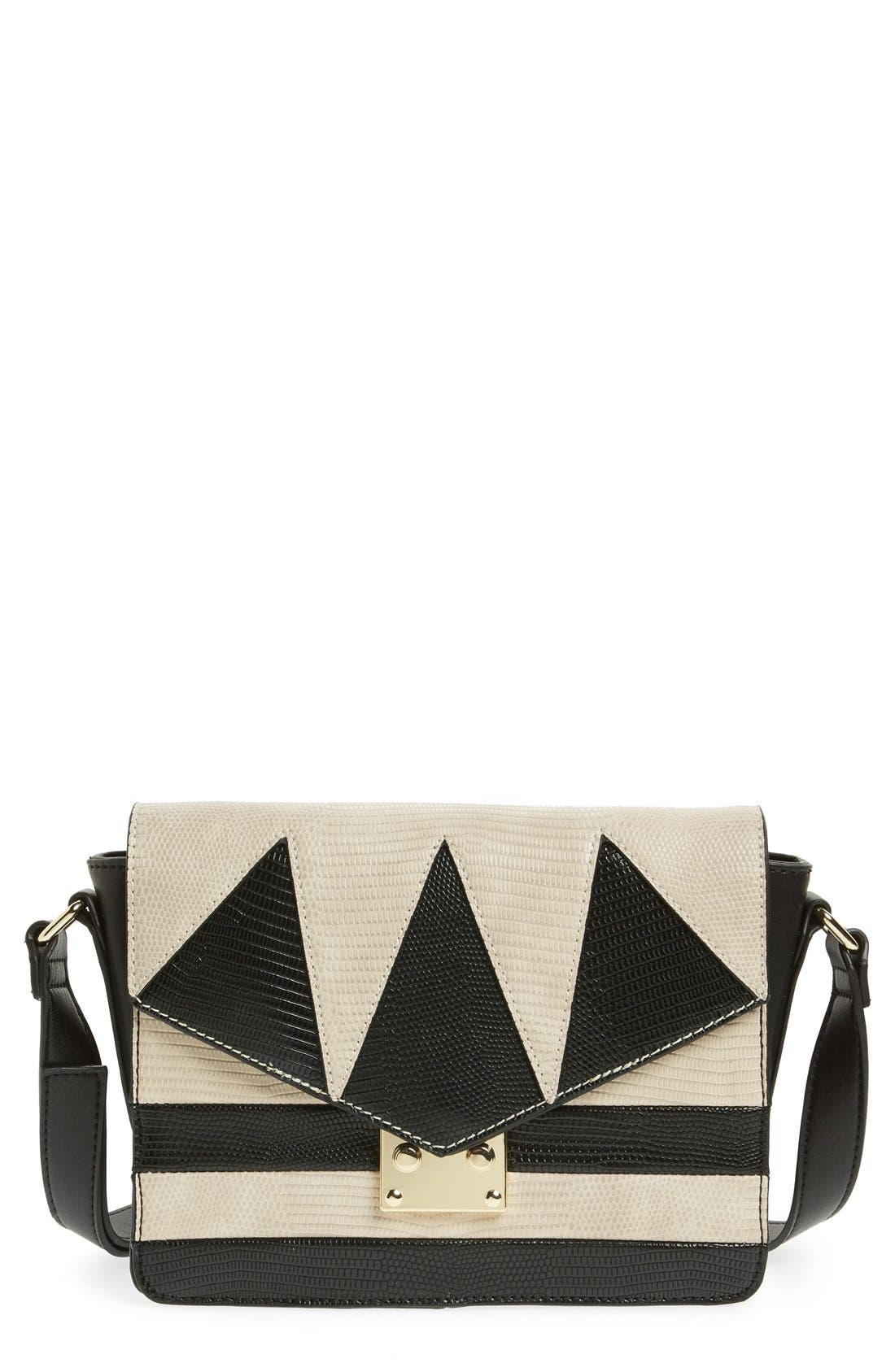 Main Image - Topshop Embossed Crossbody Bag