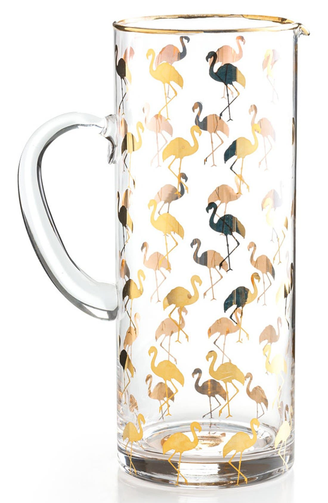 ROSANNA Flamingo Glass Pitcher