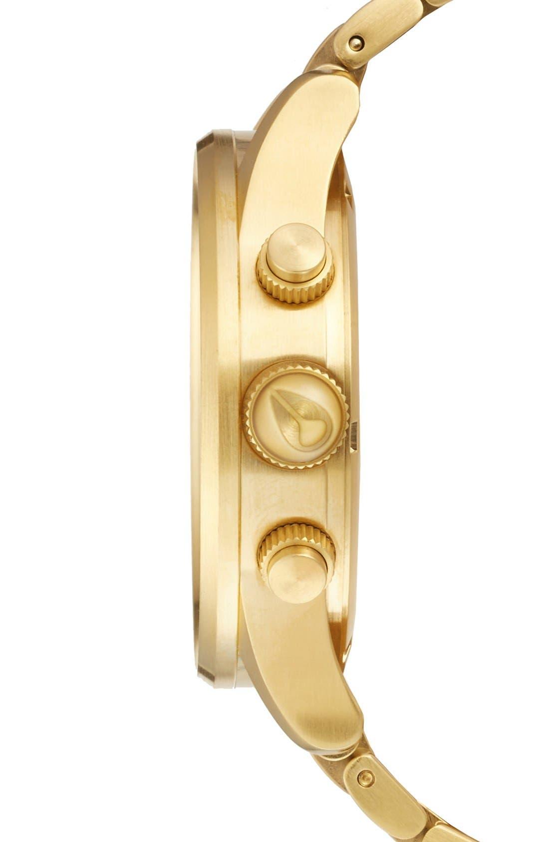 Alternate Image 3  - Nixon 'The Sentry' Chronograph Bracelet Watch, 42mm