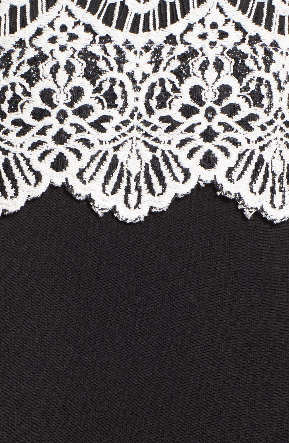 Alternate Image 5  - Halogen® Collared Lace Sheath Dress (Regular & Petite)
