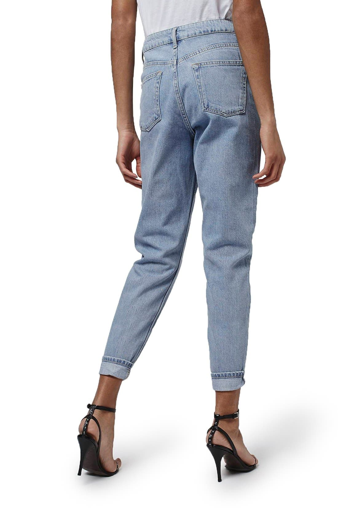 Alternate Image 3  - Topshop Mom Jeans (Lilac) (Petite)