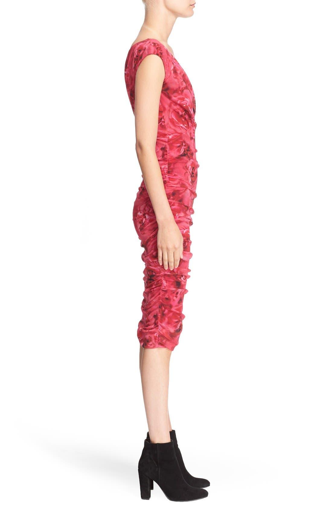 Alternate Image 4  - Fuzzi Rose Print Ruched Tulle Dress