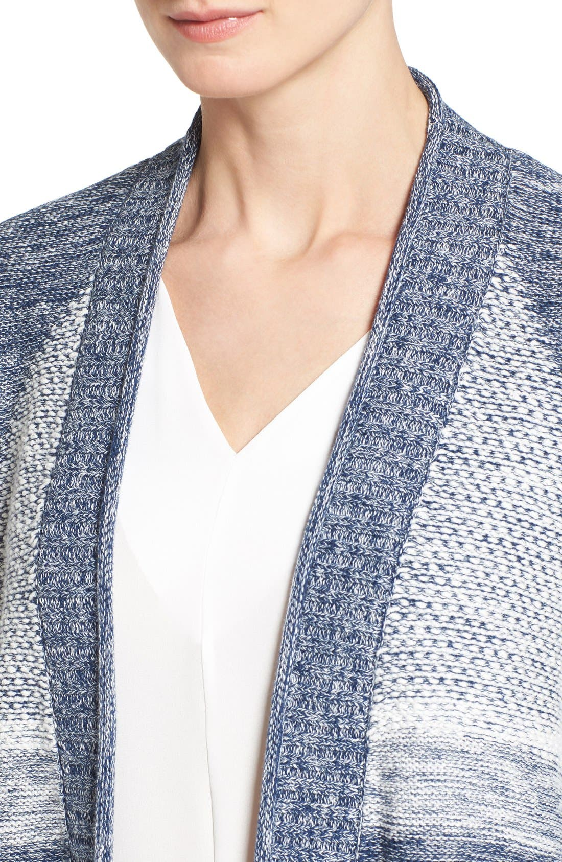 Alternate Image 4  - Caslon® Cuffed Sleeve Long Cardigan