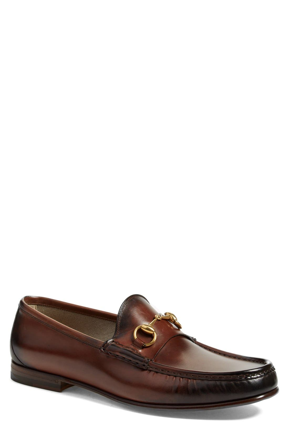 Alternate Image 1 Selected - Gucci 'Roos' Bit Loafer (Men)