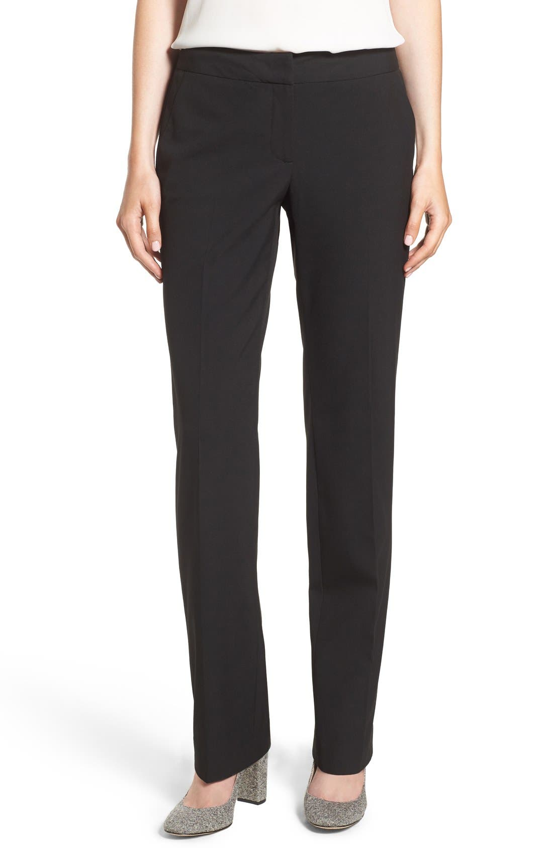 Alternate Image 1 Selected - Halogen® 'Taylor - Ela' Straight Leg Suit Pants (Regular & Petite)