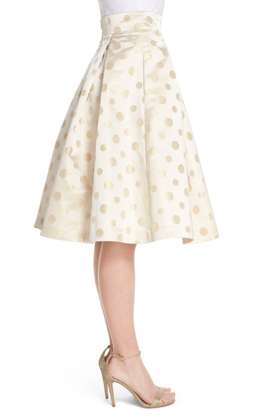 Alternate Image 3  - Eliza J Polka Dot Metallic Midi Skirt