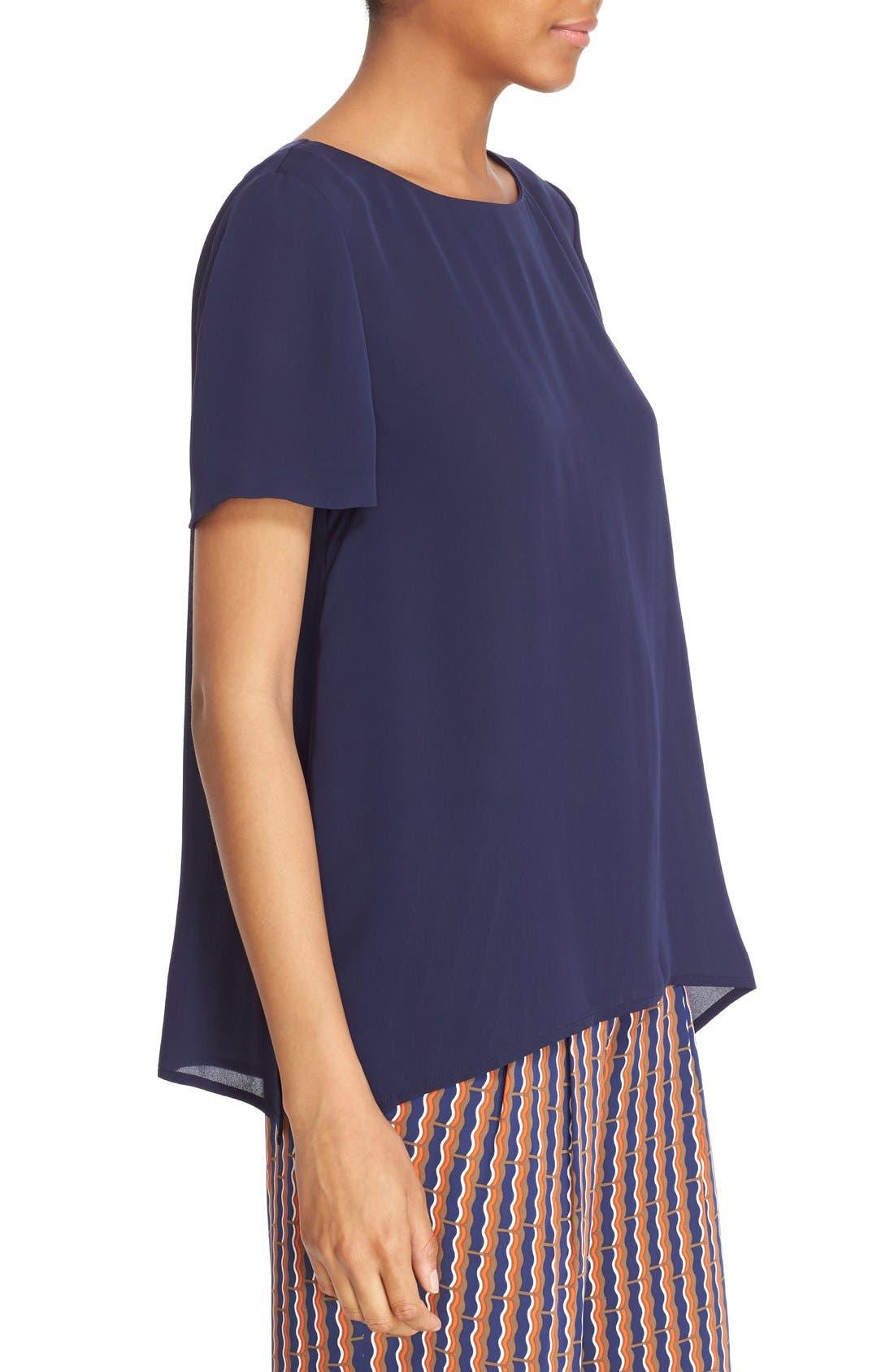 Alternate Image 3  - Diane von Furstenberg 'Maggy' Short Sleeve Button Back Silk Blouse