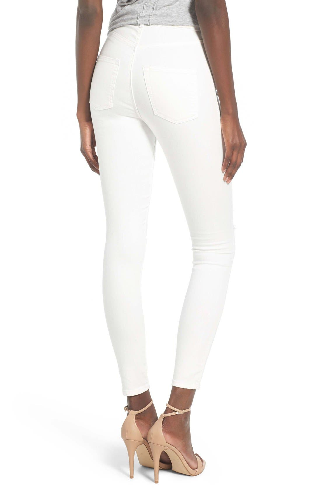 Alternate Image 2  - Cheap Monday High Rise Distressed Skinny Jeans