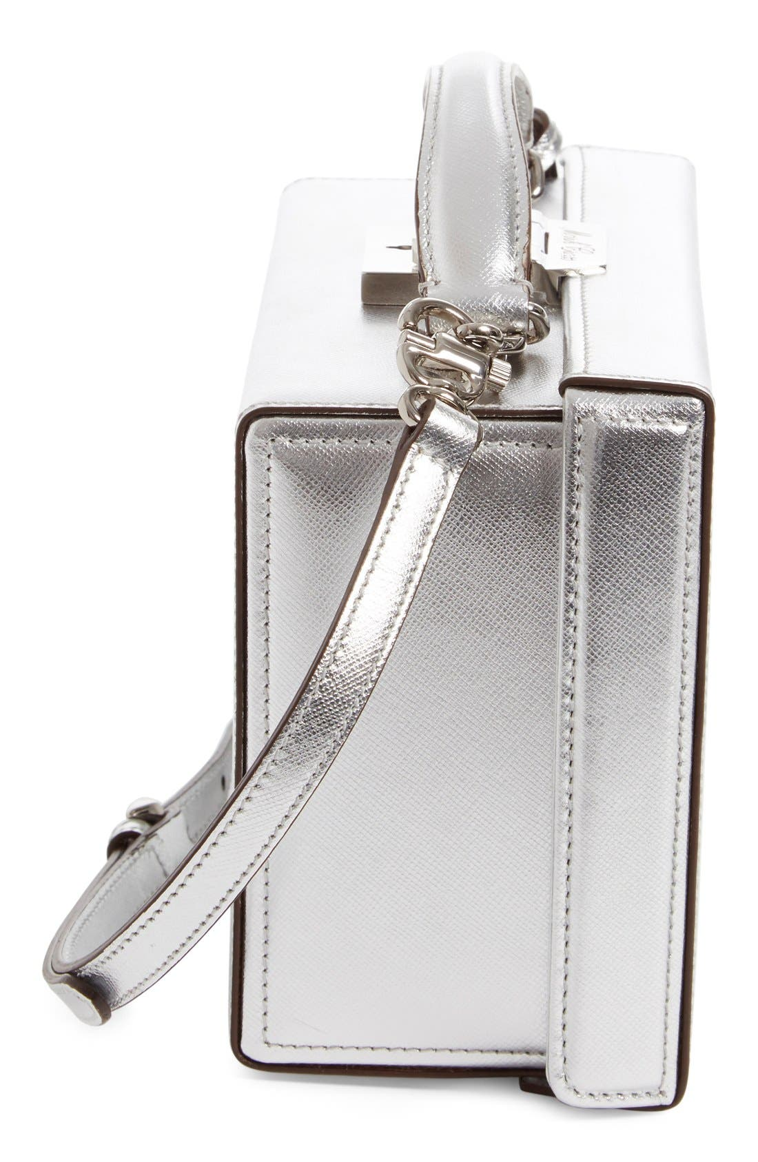 Alternate Image 4  - Mark Cross 'Small Grace' Metallic Saffiano Leather Box Clutch
