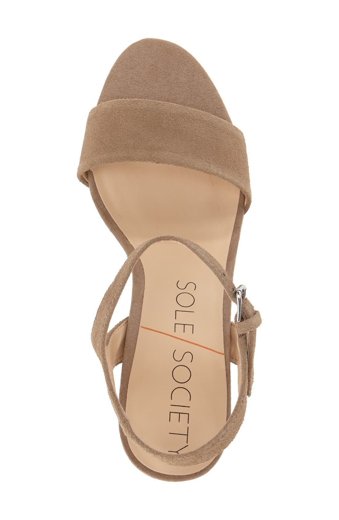 Alternate Image 3  - Sole Society 'Linny' Ankle Strap Sandal (Women)