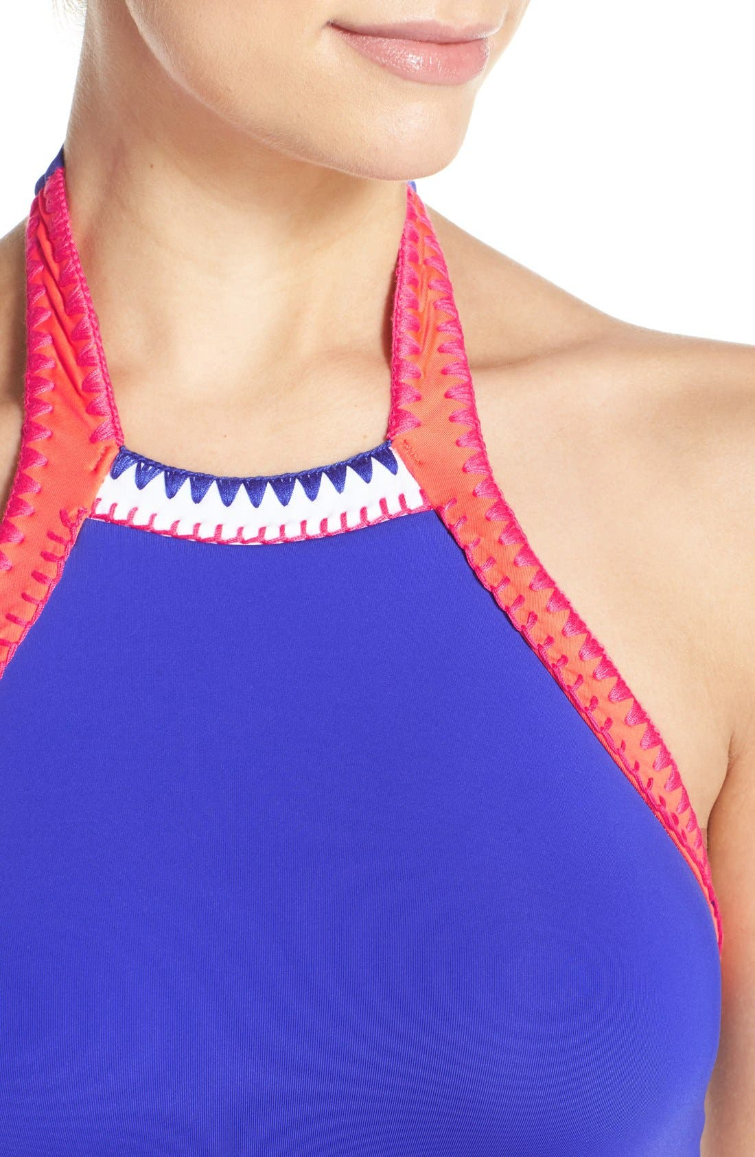 Alternate Image 4  - Seafolly 'Summer Vibe' High Neck Halter Bikini Top