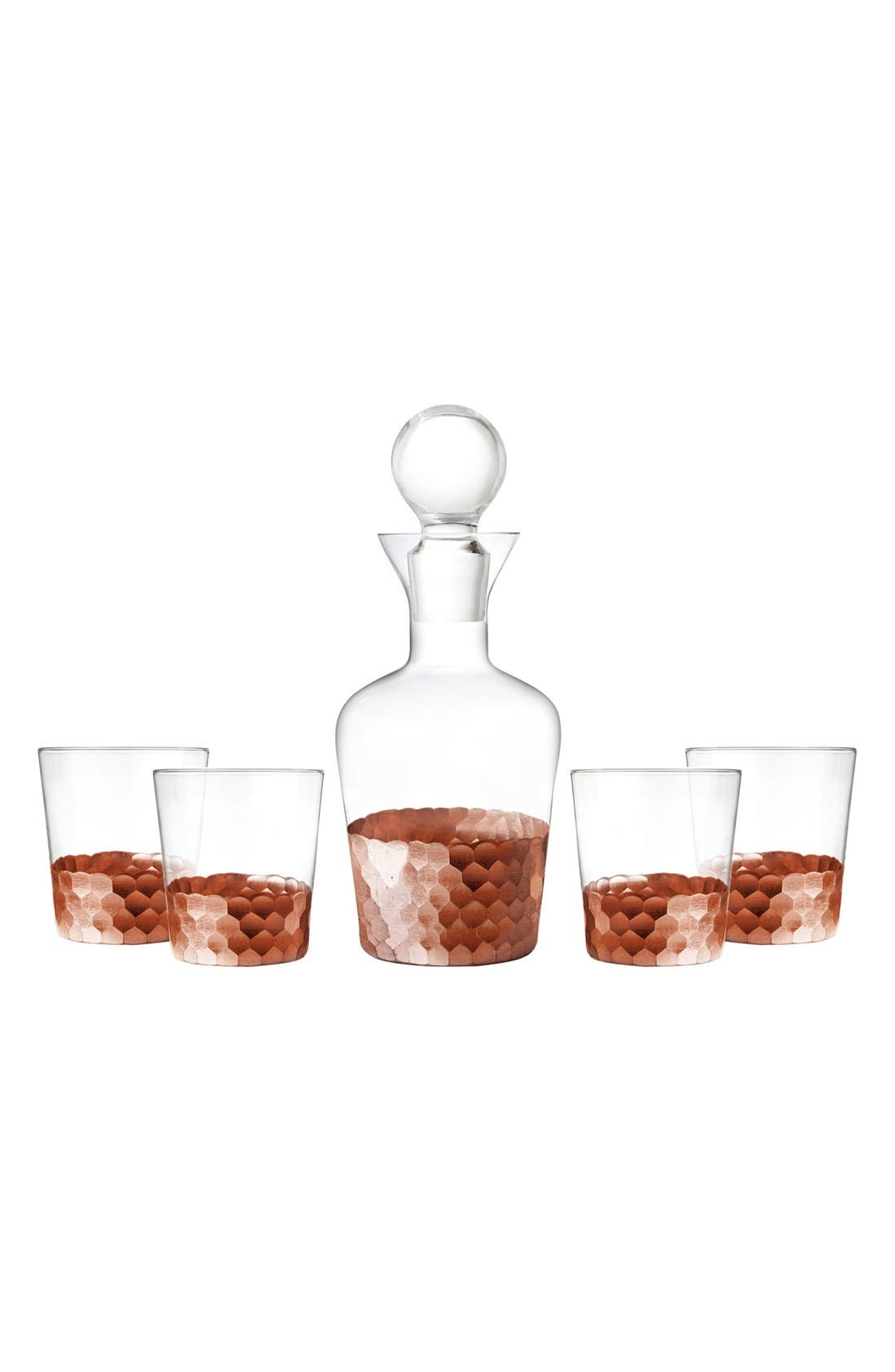 Alternate Image 1 Selected - American Atelier 'Daphne' 5-Piece Decanter & Whiskey Glasses Set