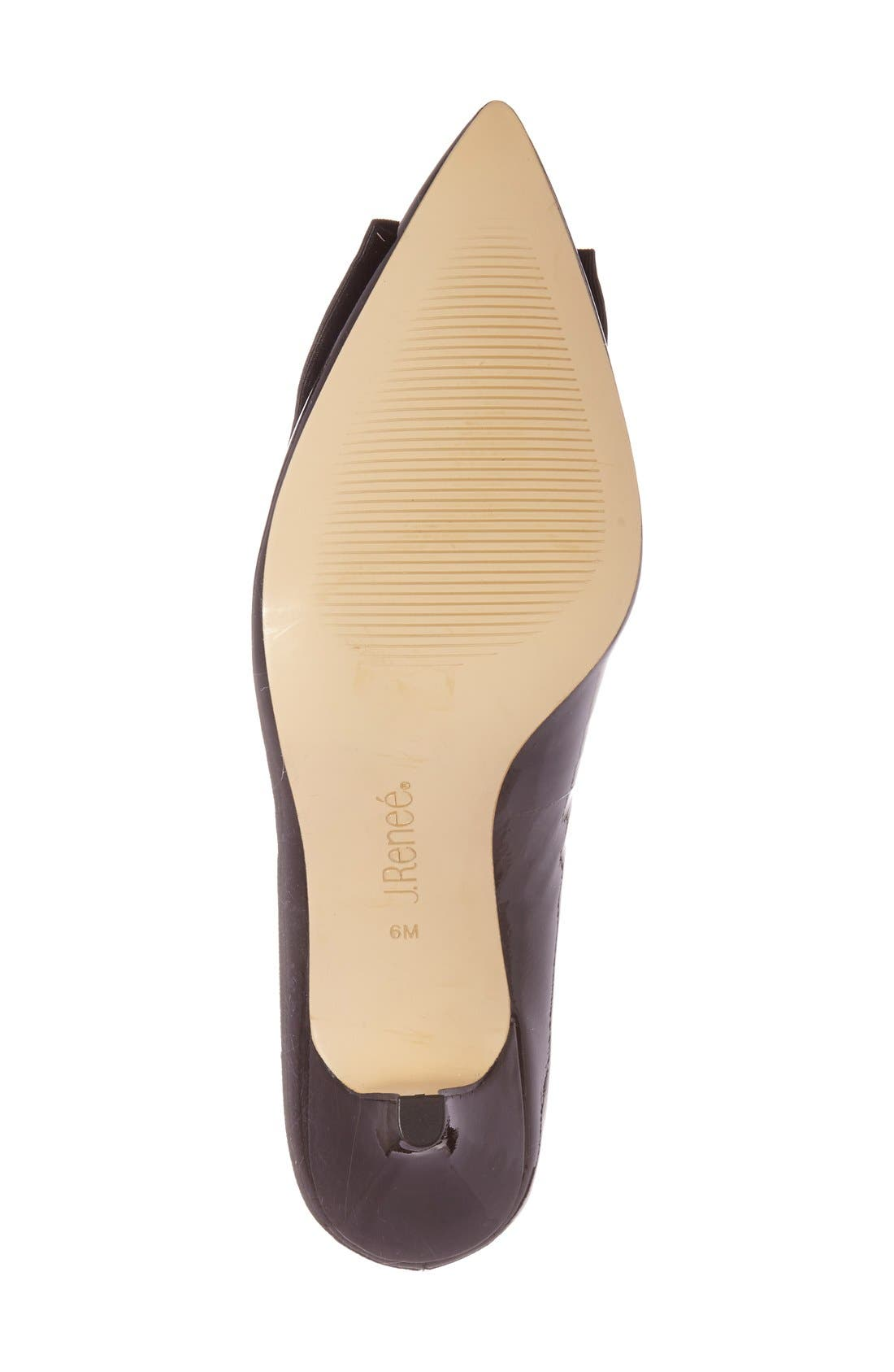 Alternate Image 4  - J. Reneé 'Camley' Pointy Toe Bow Pump (Women)