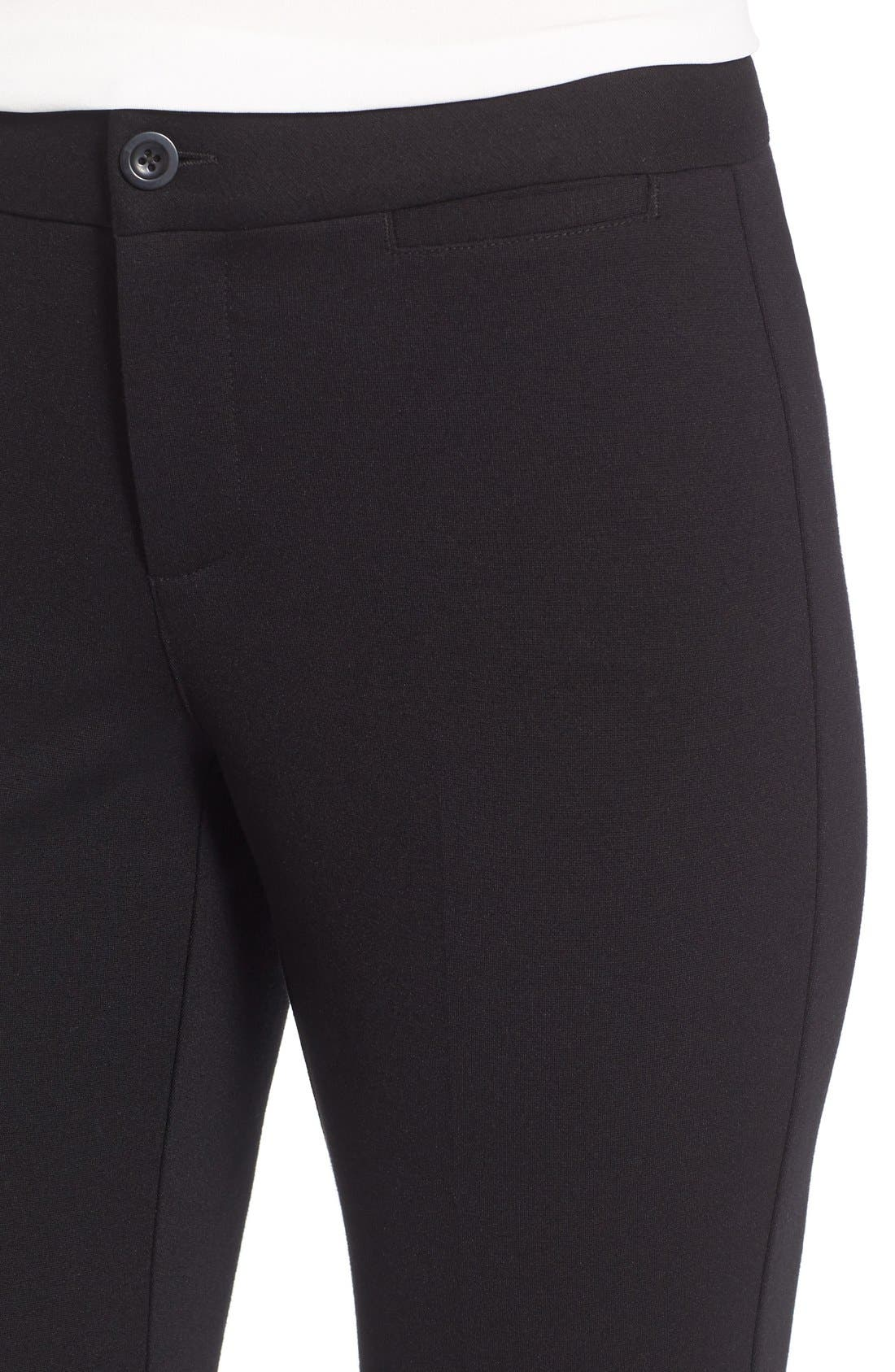 Alternate Image 4  - NYDJ Michelle Stretch Ponte Trousers (Regular & Petite)