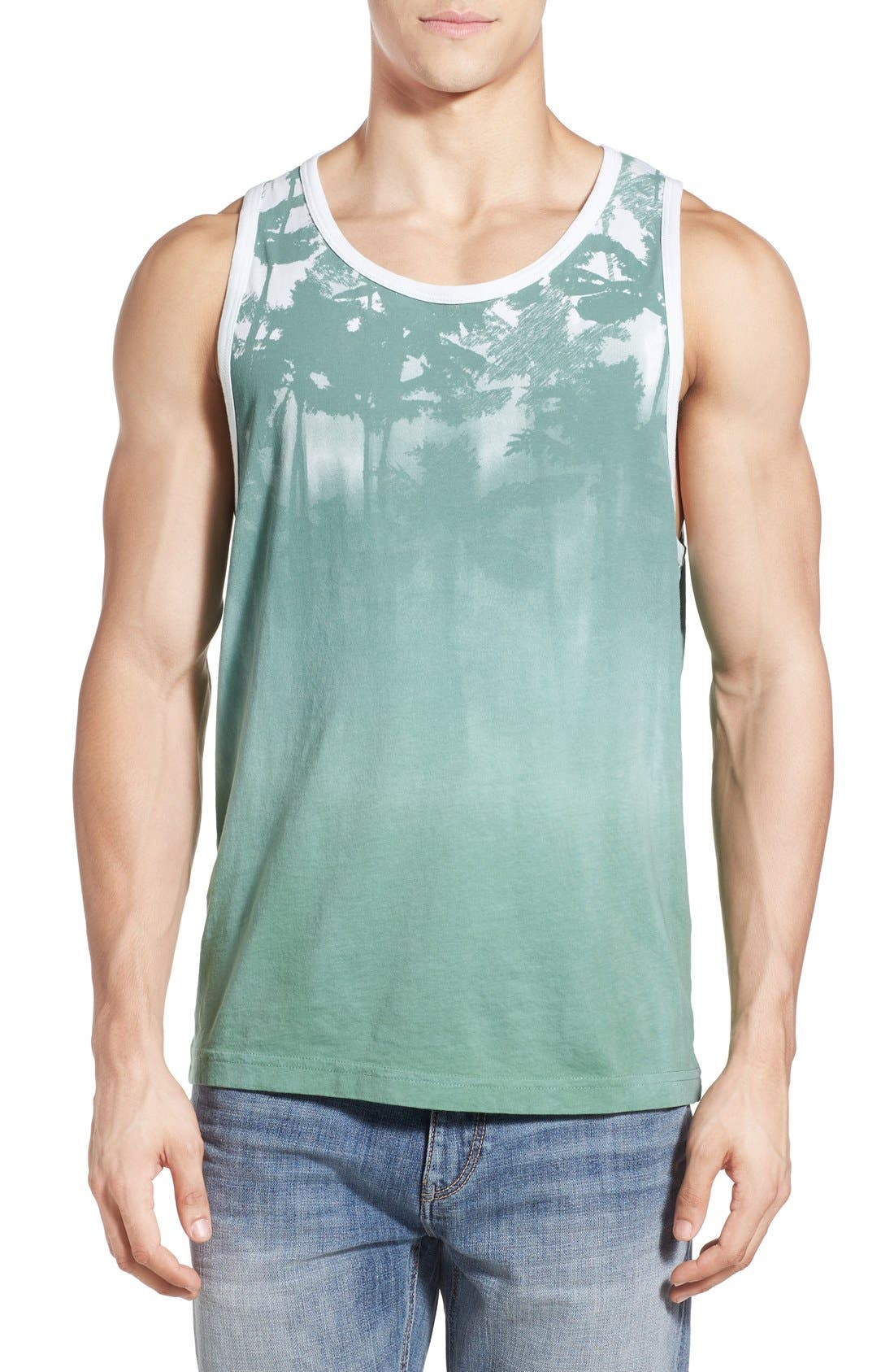 VESTIGE 'Lost' Shadow Palm Print Tank