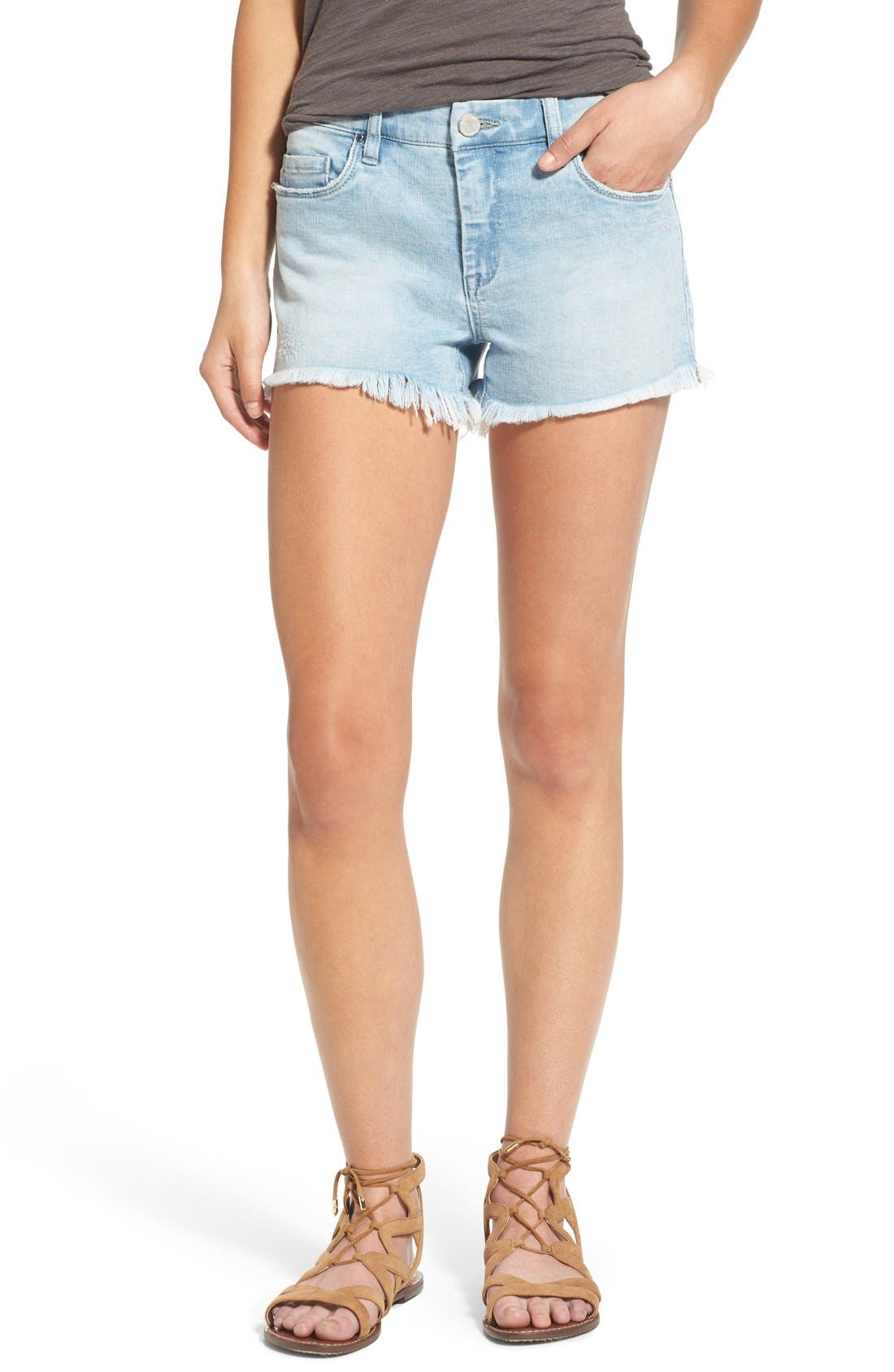 Alternate Image 1 Selected - BLANKNYC 'Emoji Fatigue' Denim Cutoff Shorts