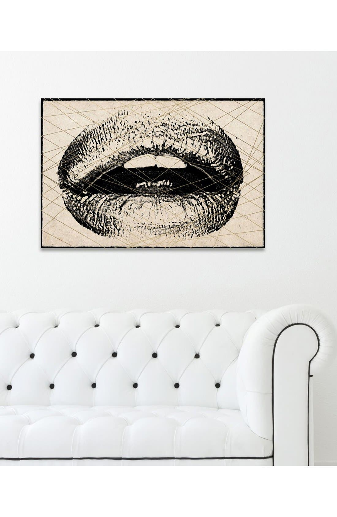 Alternate Image 2  - Hatcher & Ethan 'Lips' Canvas Print