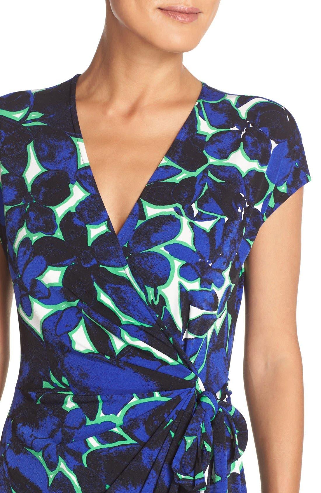 Alternate Image 5  - Maggy London Print Wrap Dress (Regular & Petite)